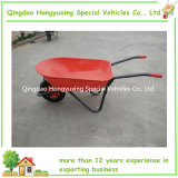 Contractor100L resistente Wheelbarrow Wheelbarrow Wb8618 com Pneumatic Wheel