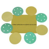 Papel amarillo de la arena con el gancho de leva y el bucle