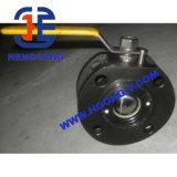 Válvula de esfera de flutuação do atuador de Pueumatic da bolacha da flange do aço de molde de API/ANSI