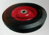 Schwarzes 10 Zoll-festes Gummirad für Laufkatzen und Eber
