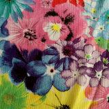 Tela 100% del poliester con la impresión de la flor