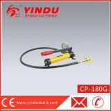 圧力計(CP-180G)が付いている小型油圧ハンドポンプ
