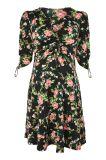 Платье женщин новой шеи печатание сексуальной v Arrvial Rose флористической Maternity