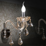Manera Cognac Crystal Sconces Wall Lamp para la sala de estar (W8330-2)
