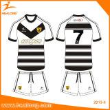 Rugby Jersey do Sublimation da tintura do desenhador de Healong