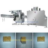 自動圧縮されたビスケットの水平の収縮の流れの包装機械
