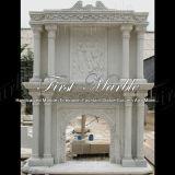Mensola del camino bianca Mfp-457 di Carrara del granito di pietra di marmo
