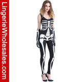 Costume sexy de Cosplay de Ladys de salopette squelettique sexy d'impression