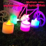 Decoración electrónica ambarina sin llama del hogar de la vela del LED Tealight