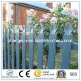 El panel galvanizado cubierto polvo de la cerca del metal del hierro labrado para al aire libre