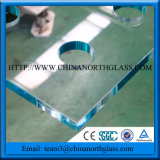 Da porta simples do chuveiro de China vidro Tempered irregular de forma 8mm