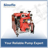 38HP 쌍둥이 단계를 가진 휴대용 가솔린 엔진 Self-priming 화재 펌프