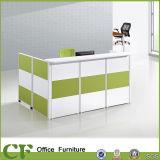 알루미늄 프레임 MDF 널 사무실 접수처 카운터 테이블