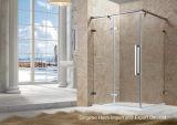 샤워실 공간 부유물 강화 유리 샤워 문 유리