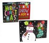 クリスマスのギフト袋、ツイストハンドル、紙袋、ギフト袋が付いているクラフトのクリスマスのギフト袋