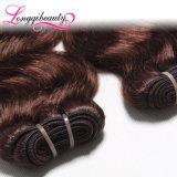 Stock большая двойная Weft бразильская объемная волна #4 волос девственницы