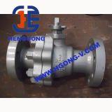 Valvola a sfera elettrica della flangia dell'acciaio di getto montato del perno di articolazione di ANSI/DIN