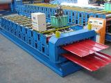 Tuile en acier d'opération de matériaux de construction formant la machine