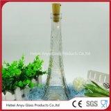 Bouteilles Shaped de jus de bouteille en verre de vin de Tour Eiffel avec du liège