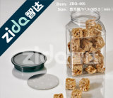 음식 단지 콘테이너는 뚜껑을%s 가진 애완 동물 플라스틱 단지를 지운다