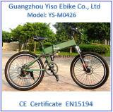 """26 """" bicicletas eléctricas de la montaña de aluminio del marco, 27 velocidades, fork de la suspensión para el mercado norteamericano"""