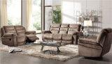Sofa de salle de séjour avec le sofa moderne de cuir véritable réglé (898)