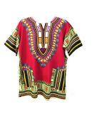 Camisa unisex barata feita sob encomenda de Dashiki das partes superiores da venda por atacado africana da camisa da roupa