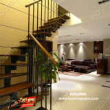 Indoor를 위한 현대 Design Steel Structure Straight Staircase