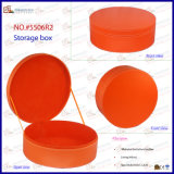 Unité centrale Leather Round Storage Box (5506R6) de chapeau