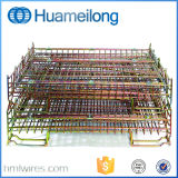 Металл складывая штабелирующ клетку хранения для пакгауза