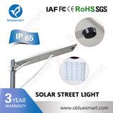 Lampada di via solare solare esterna dell'indicatore luminoso 15W-120W LED del sensore