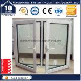 Ventana de aluminio blanca de capa del marco del polvo espeso de 2015 tapas