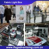 LEDによってバックライトを当てられるファブリックライトボックス