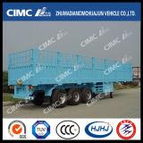 Cimc Huajun 3axle Stange/Ladung-halb Schlussteil (mit Torsionverschlüssen kann Behälter tragen)