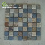 Qualitäts-natürliche Schiefer-Ziegelstein-Mosaik-Merkmals-Wand-Fliese für Haus-Dekoration
