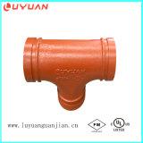 "O T igual sulcado da aprovaçã0 de FM/UL ferro Ductile e faz sob medida 1 "" (33.7mm) sulcou o T"