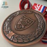고품질 아연 합금 리본을%s 가진 주문 러시아 금속 경찰 트로피 그리고 메달