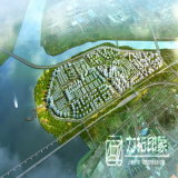 De lucht Planning van de Stad van de Mening