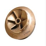 Carcaça de cobre de bronze da precisão perdida da carcaça da cera para o impulsor