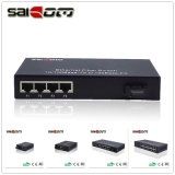 100Mbps 1 Fx 4 puertos Fast Ethernet Switch FE Media Converter