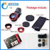 Universele Klem 3 in 1 Lens Fisheye voor Mobiele Telefoon
