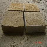 Revestimiento de piedra natural empilado de la pared exterior de la piedra arenisca amarilla