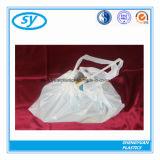 Bolso de basura plástico del lazo biodegradable del precio de fábrica