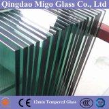 glace claire transparente de /Tempered en verre de flotteur de 12mm coupée à la taille