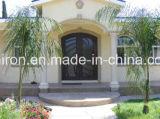 Традиционная конструкция безопасности двери входа утюга с решеткой
