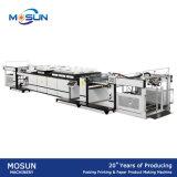 Machine d'enduit UV de pétrole de carton de Mssa-1200A de boîte-cadeau dure automatique de module