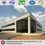 Bâtiment d'administration de structure en acier avec mur en rideau en verre