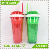 Heißer Verkauf BPA geben Plastikimbiss-Cup mit Stroh frei