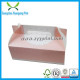 Kundenspezifischer weißer Packpapier-Kuchen-verpackenkasten