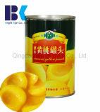 Grosses Frucht-Korn von frischem in Sirup in Büchsen konserviertem gelbem Pfirsich